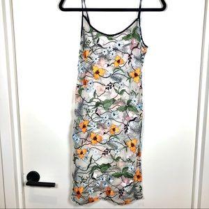 NWOT Sheer Floral Dress